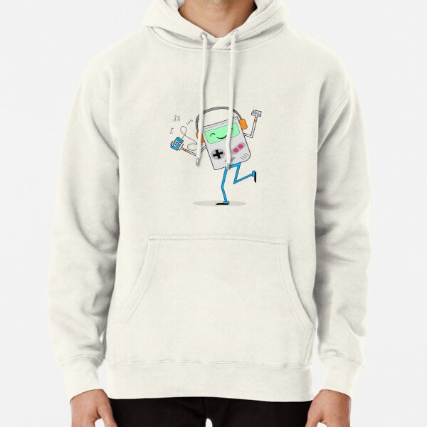 Retro Games and Cassette Tapes Pullover Hoodie