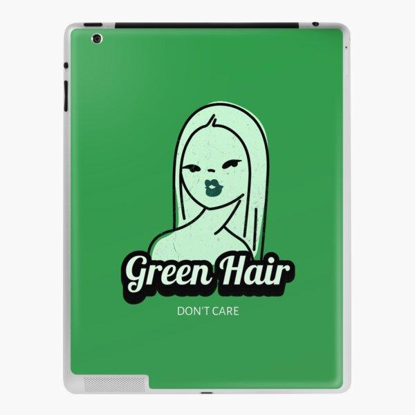 Green Hair Don't Care iPad Skin