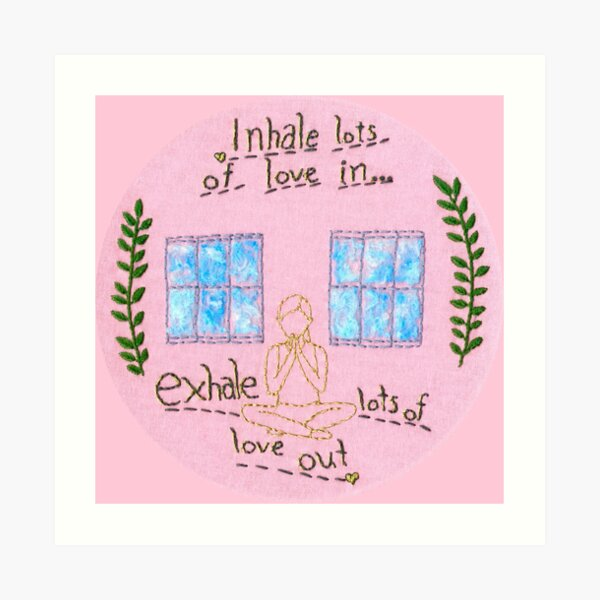 Yoga with Adriene Embroidery Art Print