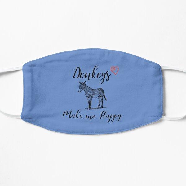 Donkeys make me happy Mask