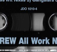 dj screw tape Sticker