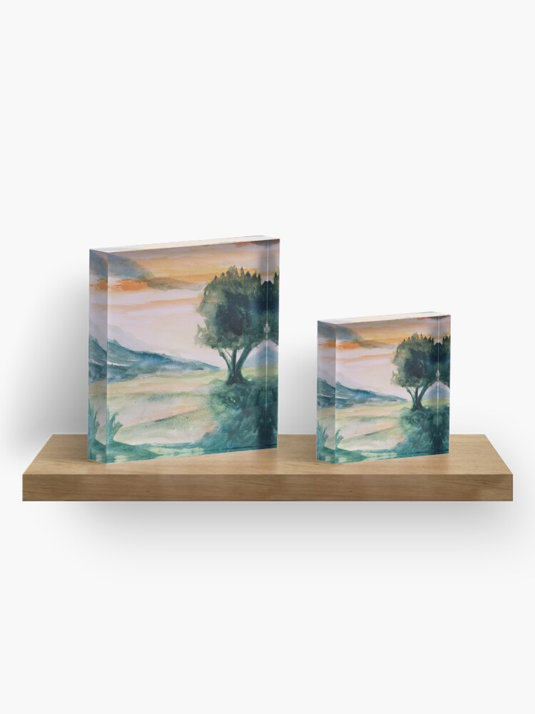 Alternate view of Sunset Acrylic Block