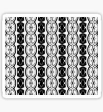 Dividing Cells Black and White Pattern Sticker