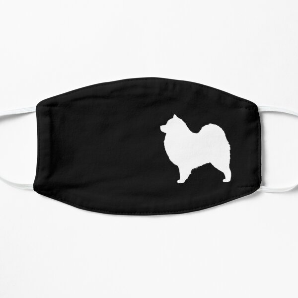 Samoyed Dog Silhouette(s) Flat Mask