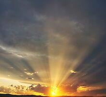 Sunset Beams by Annette Blattman