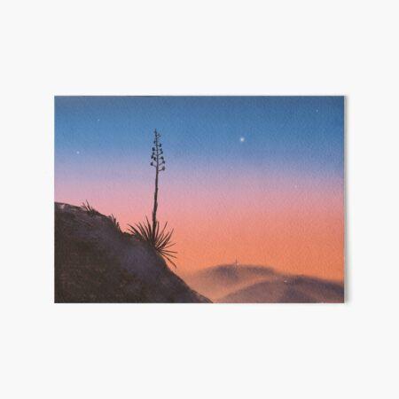Santa Monica Mountains Yucca Sunset Art Board Print