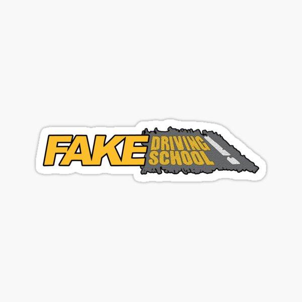 Fake Driving School Sticker