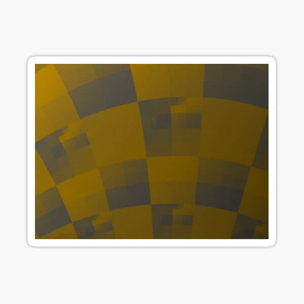 Squares Abstract Pattern Brown Sticker