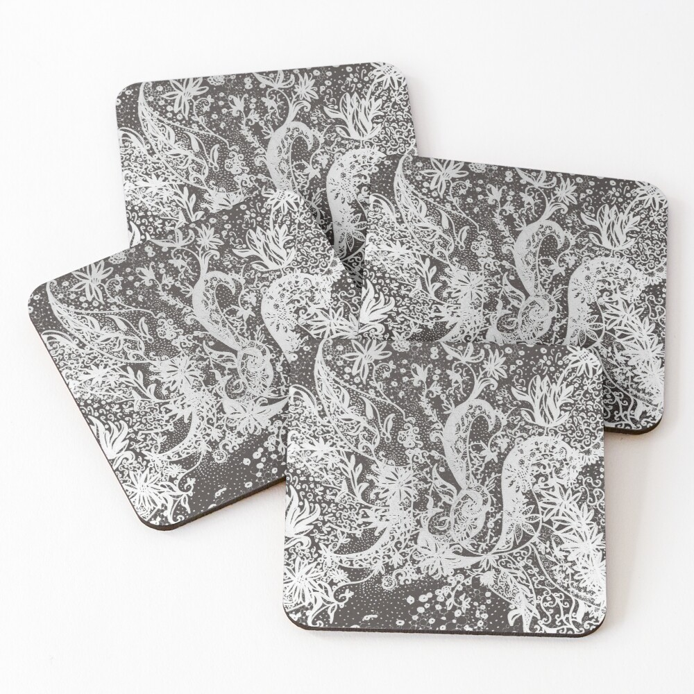 "Textile tattoo ""Alnar"" Coasters (Set of 4)"