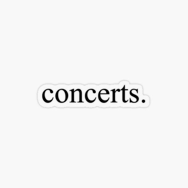 Concerts Transparent Sticker