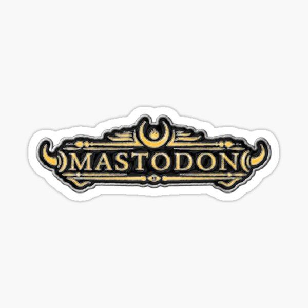 Logotipo de Mastodon Pegatina