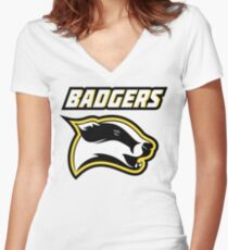 Badgers Women's Fitted V-Neck T-Shirt