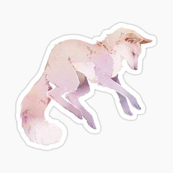 White Fox Sticker