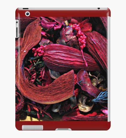 Colour Me Crimson! Pot Pourri Still Life iPad-Hülle & Klebefolie