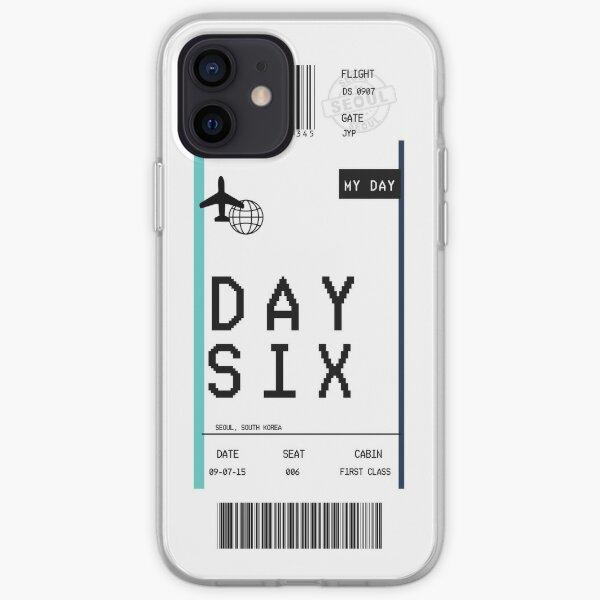 """DÍA 6 """"Tarjeta de embarque"""" Funda blanda para iPhone"""