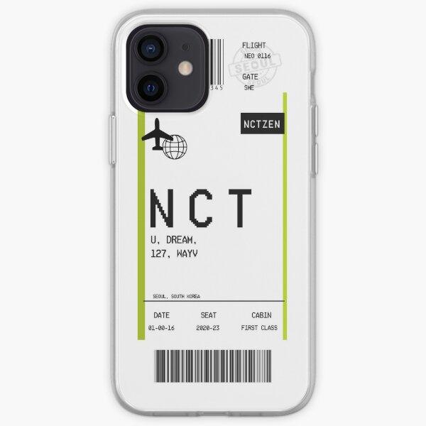 """Tarjeta de embarque"" NCT Funda blanda para iPhone"