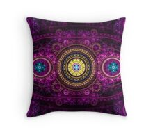 Purple Tapestry Throw Pillow