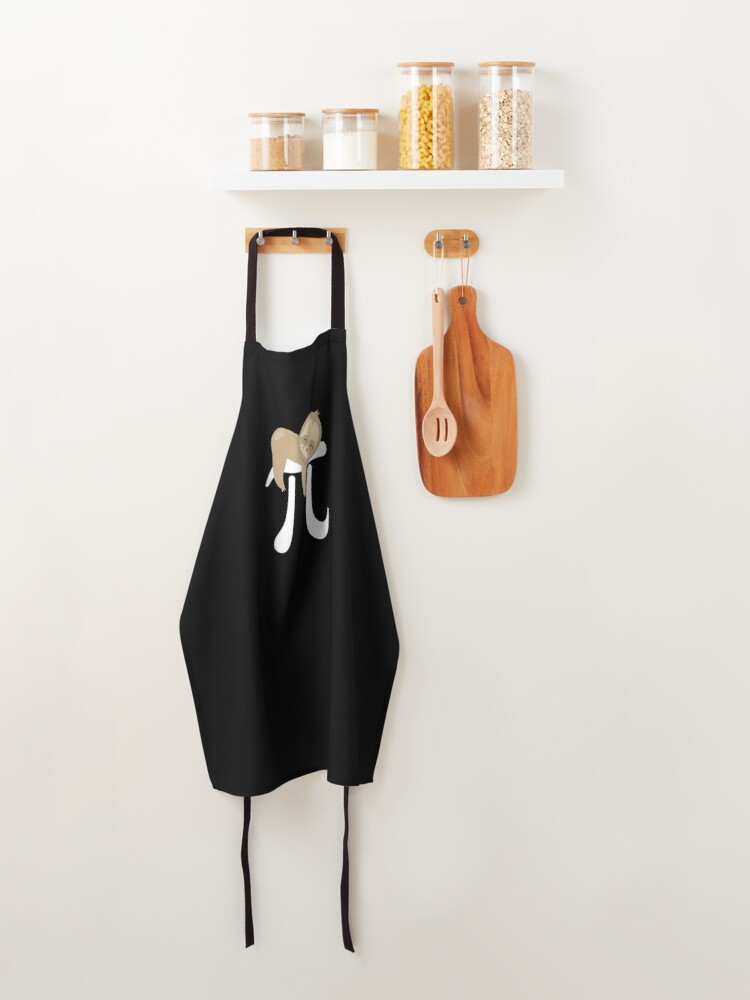 Alternate view of Sloth Pi Day design - Funny Cute Animal Lover Gift Apron