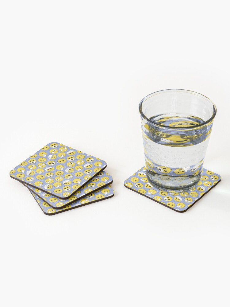 Alternate view of I need a doctor, emoji pattern Coasters (Set of 4)