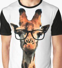 Hipster Giraffe Graphic T-Shirt