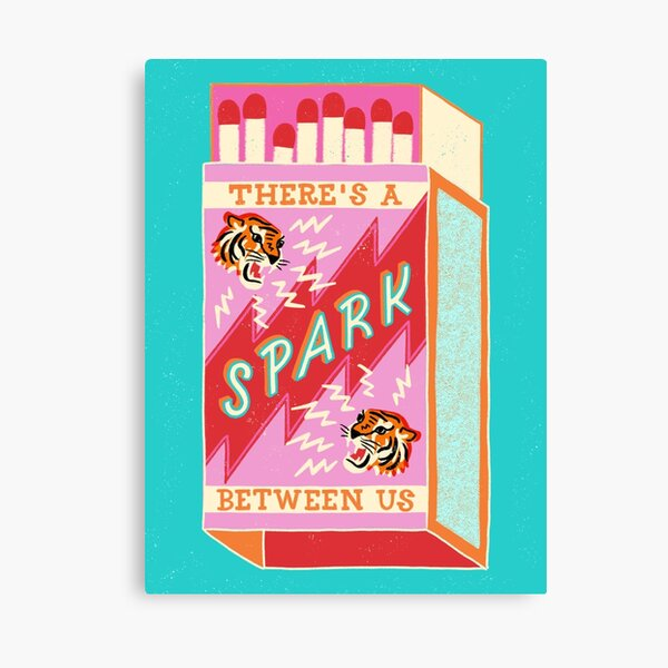 There's a spark between us Canvas Print