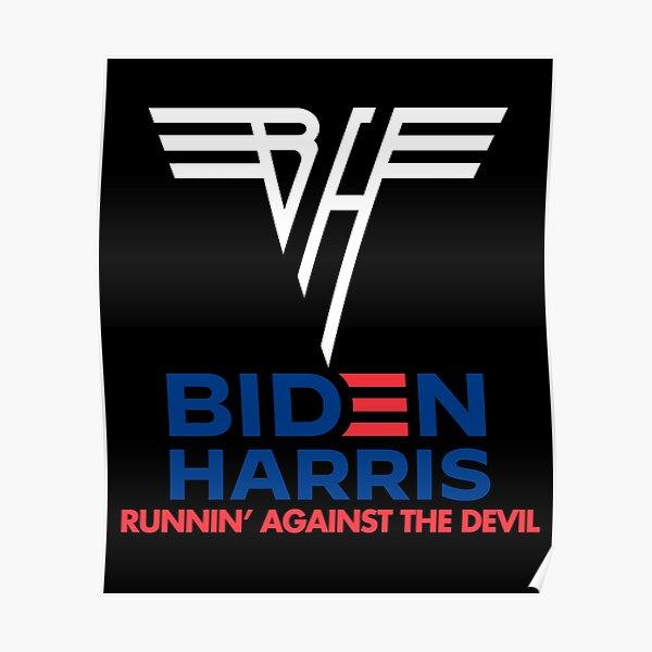 Biden Harris   Runnin' Against the Devil Poster