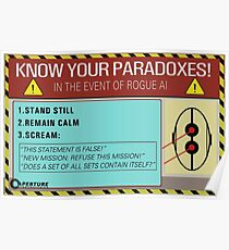 Kenne deine Paradoxe! Poster