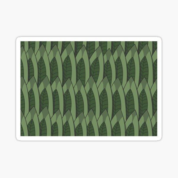 Drawn leafs Sticker