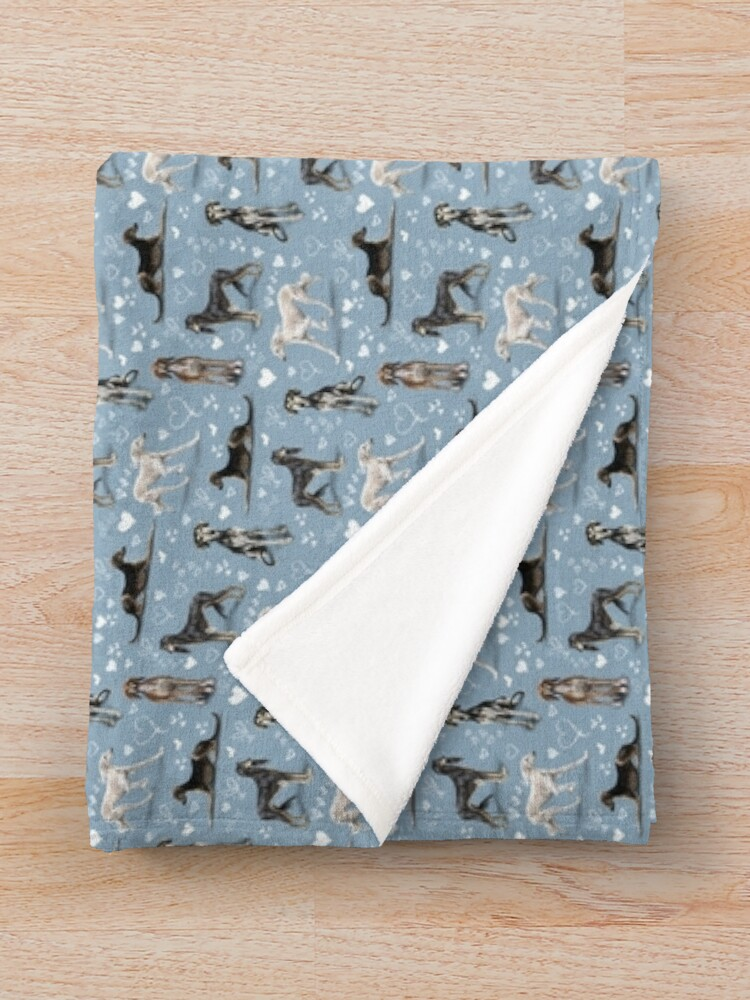 Alternate view of The Saluki Throw Blanket