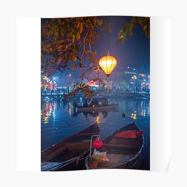 boats and a lantaren  Poster