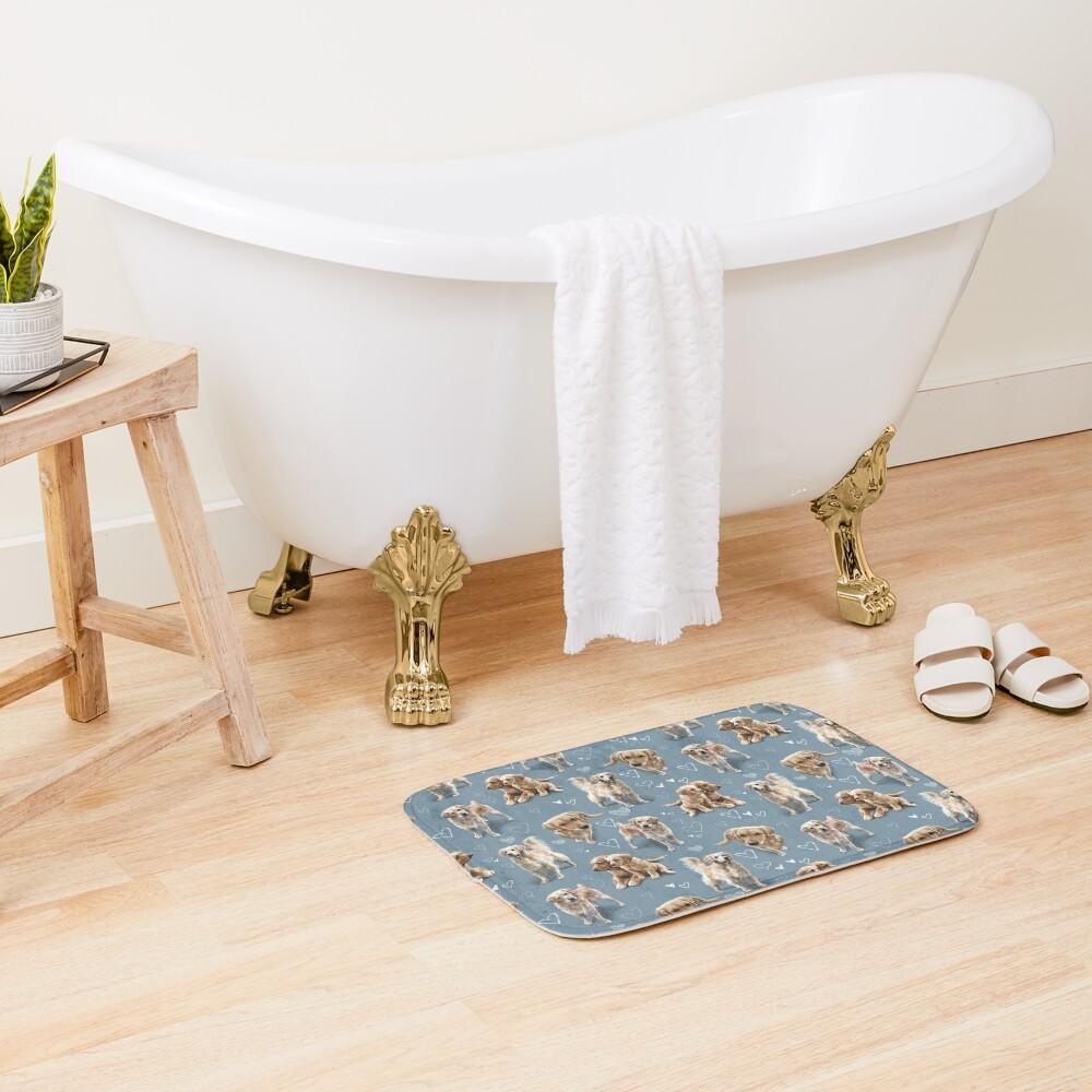 The Golden Retriever  Bath Mat