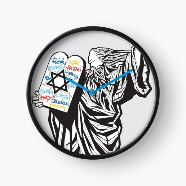 Moses and the 12 tribes Clock