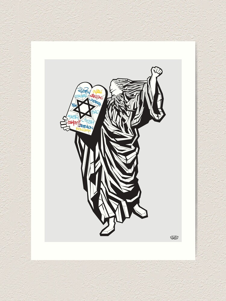 Alternate view of Moses and the 12 tribes Art Print
