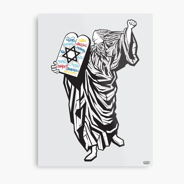 Moses and the 12 tribes Metal Print