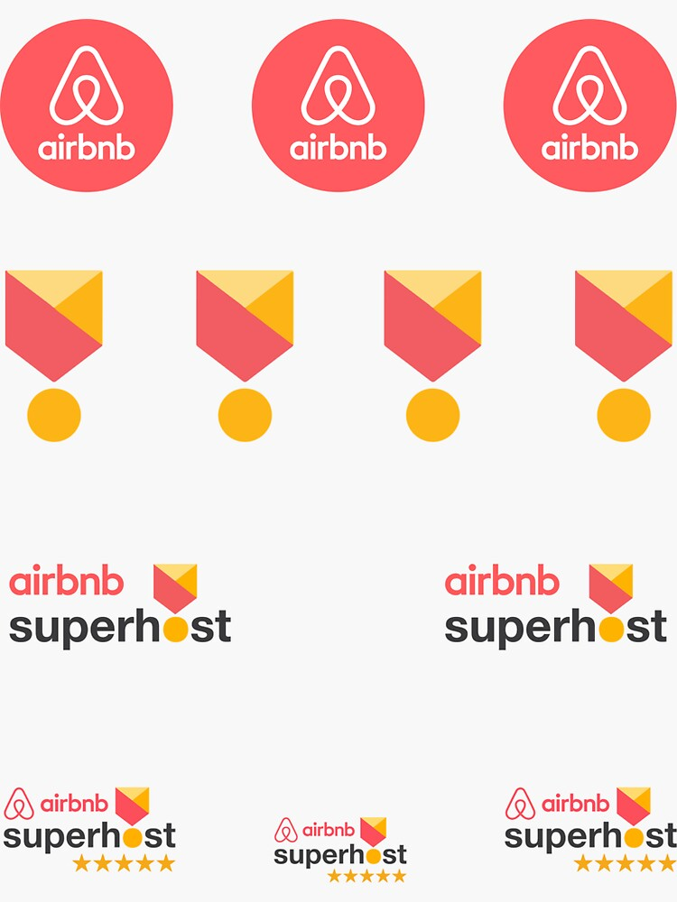 Airbnb Superhost Stickers pack by IronMark19