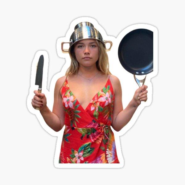 Florence Pugh kitchen Sticker