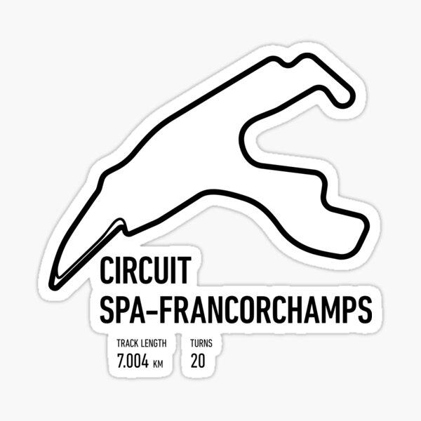 Circuit Spa-Francorchamps Track Sticker