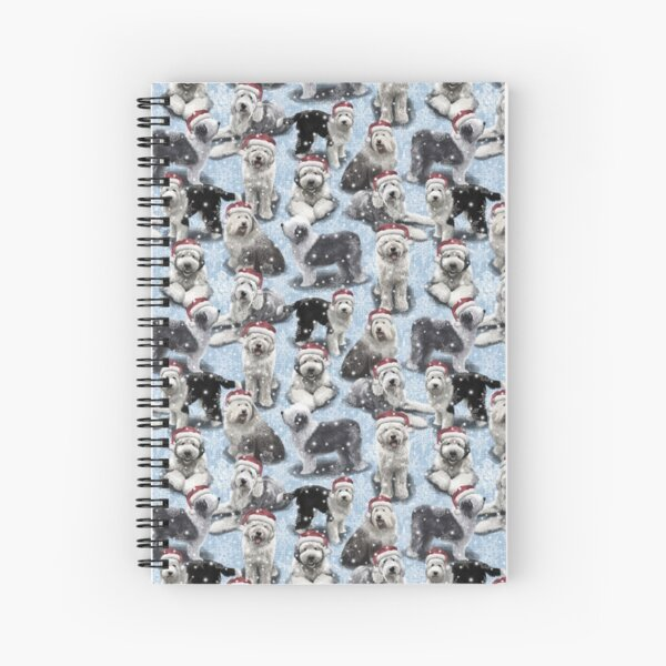 The Christmas Old English Sheepdog Spiral Notebook