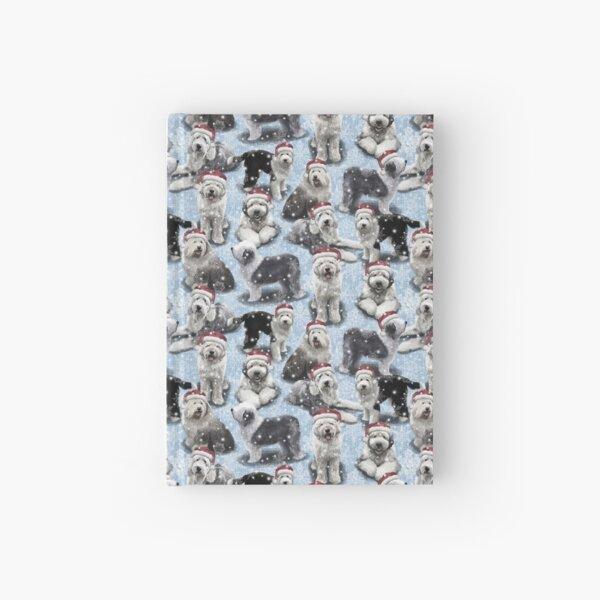 The Christmas Old English Sheepdog Hardcover Journal