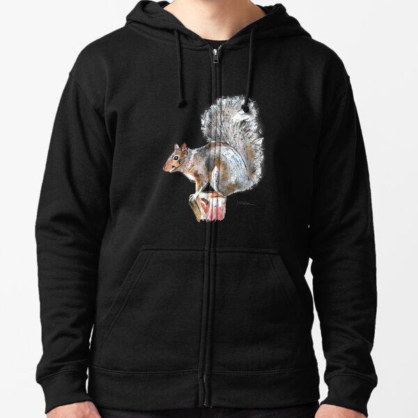 Grey Squirrel Zipped Hoodie