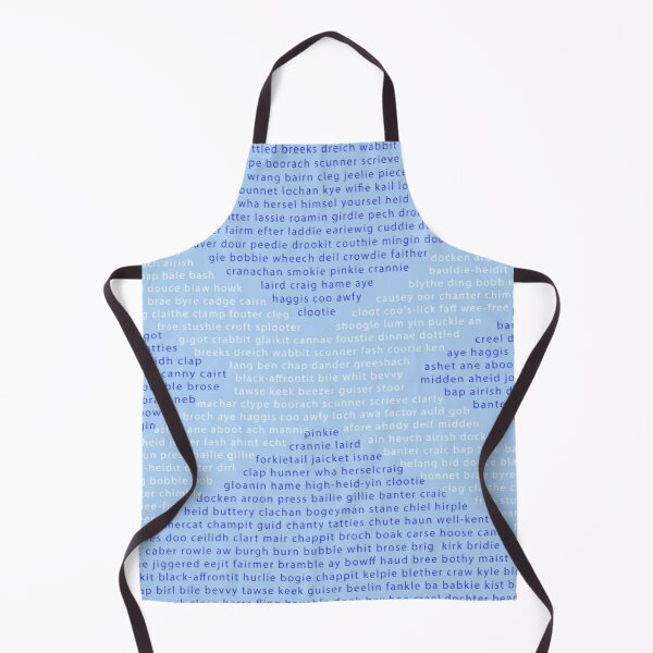 Scottish Words in a Saltire Apron