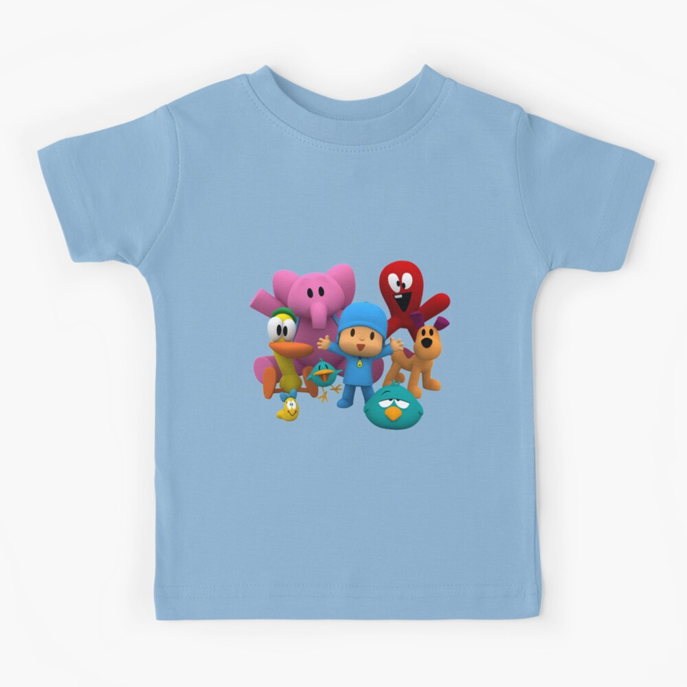 pocoyo and friends are smile T-shirt & mask and sticker Kids T-Shirt