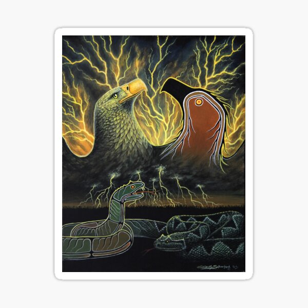 Thunderbird and Serpent Sticker