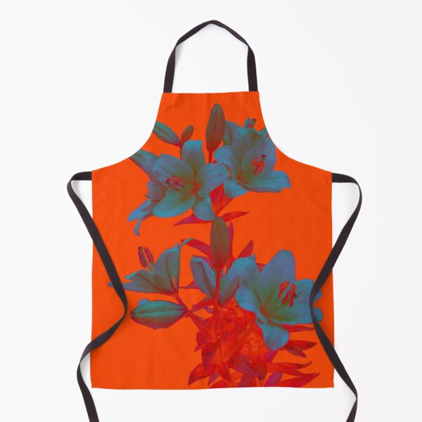 Lilies on a LushLava Background Apron