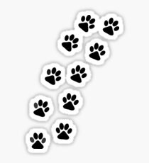 Dog Paw Track Sticker