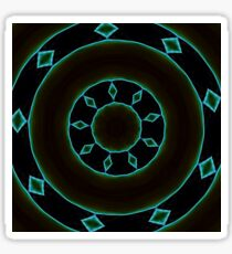 Aztec Style Studio Art In Blue and Brown Sticker