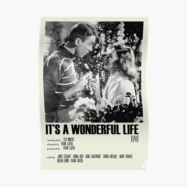 It's a Wonderful Life Alternative Poster Art Movie Large (3) Poster