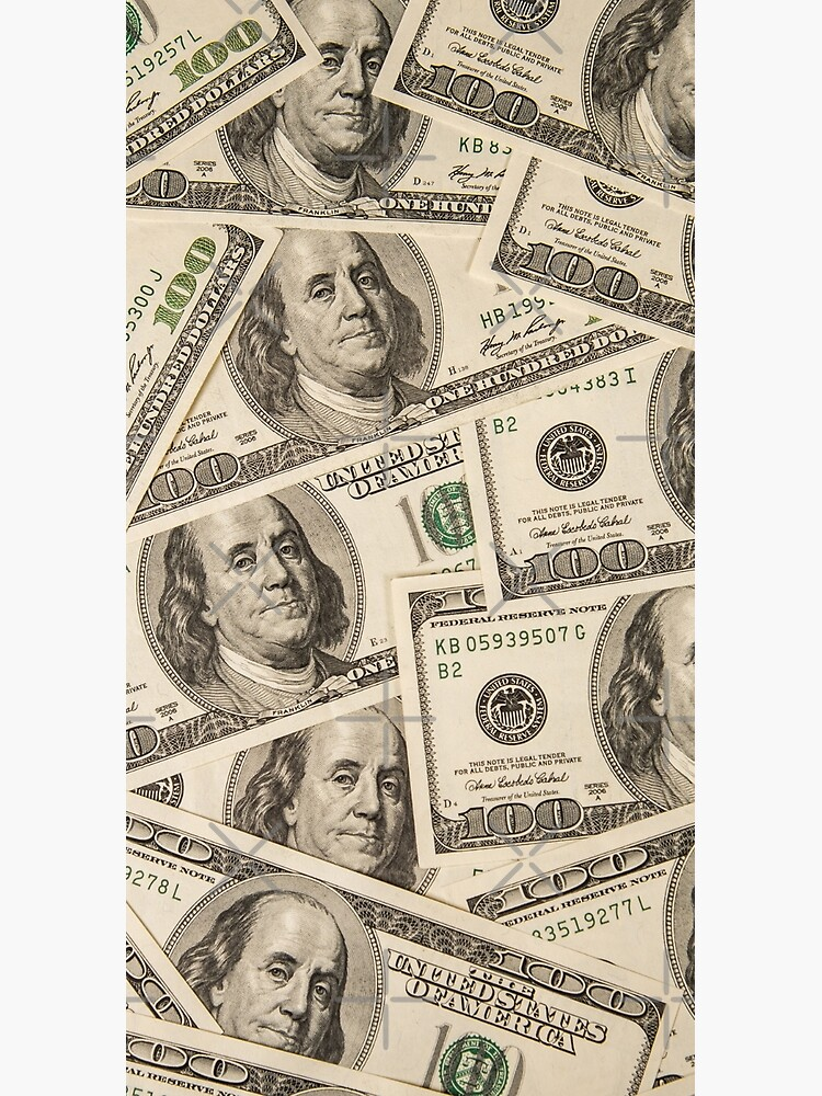 One hundred dollar bills American currency bank notes by Motivation111