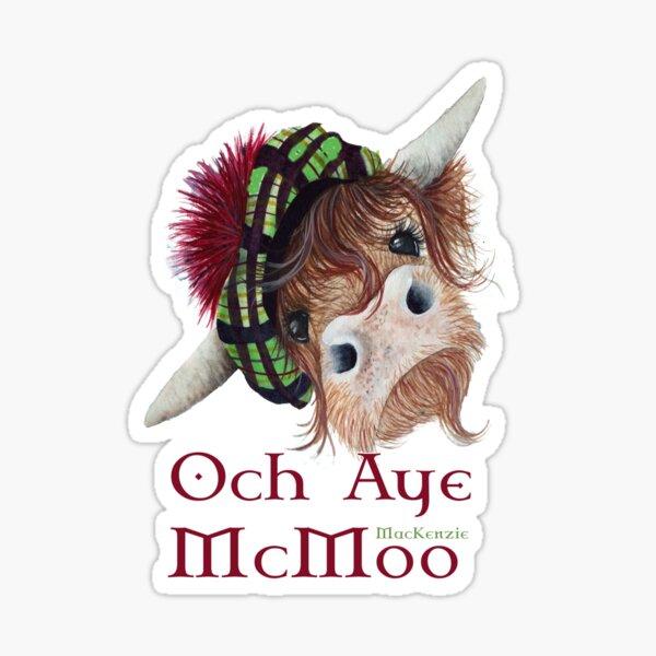 Och Aye MacKenzie McMoo Sticker