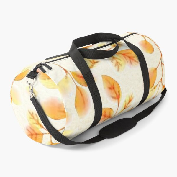 Autumn colored leaves watercolor Duffle Bag